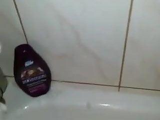 under shower