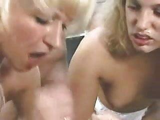 Daughter Lets Her Mom Taste Boyfriends Cum