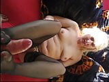 Real german couple - video footjob