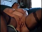BBW wife plays and cums while hubby films