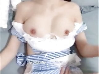 Horny college babe cosplayer gets banged hard