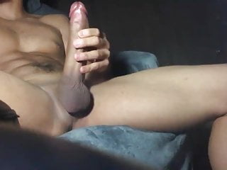 Stroking thick cock for a massive load