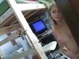 Kasia - dance in her dorm room