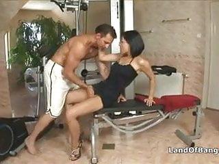 Fucking hot secretary gym...